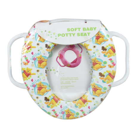 Soft Cushion Potty Trainer Comfortable Seat (Smile Pooh) - White-0