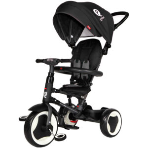 Qplay Rito 6-in-1 Baby Stroller Tricycle with Push Bar - Black-0