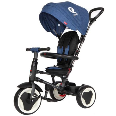 Qplay Rito 6-in-1 Baby Stroller Tricycle with Push Bar - Blue-0