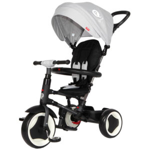 Qplay 6-in-1 Baby Stroller Tricycle with Push Bar - Grey-0
