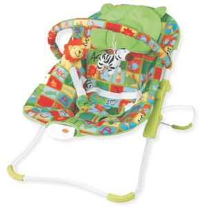 Childcare Infant Bouncer, Collapsible Easy to Carry While Travelling - Red-0