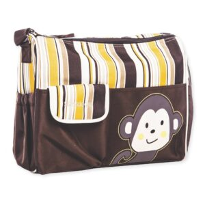 Childcare Baby Bag, Attractive Monkey Design - Brown-0