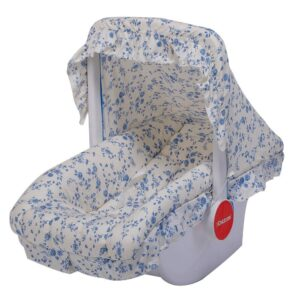 Childcare Cozy Carry Cot with Canopy - White/Blue-0