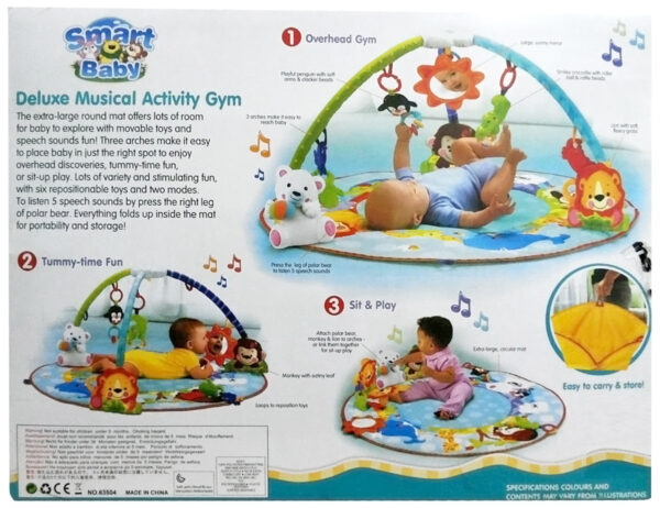 Smart Baby Deluxe Musical Activity Gym - Multicolor-24687