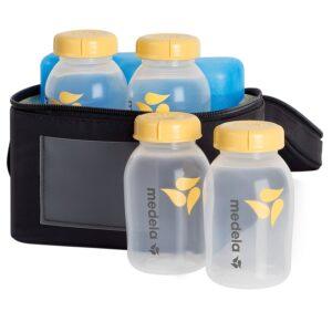 Medela Breastmilk Cooler Set, Storage Bottles - 150ml, 4 Count-0