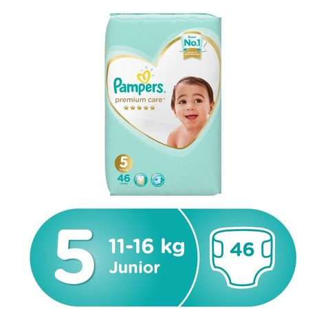 Pampers Premium Care Diapers, Size 5, Pack - 11-18 kg, 46 Count-0