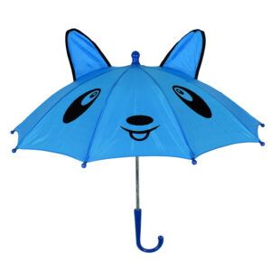 3D Pop-up Umbrella Bear Theme, Solid Color - Blue-0