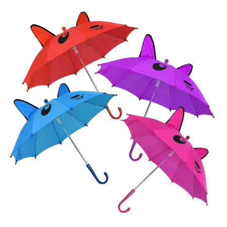 3D Pop-up Umbrella Bear Theme, Solid Color Pack of 4 - Multicolor-0