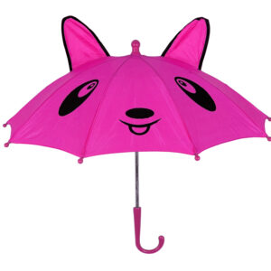 3D Pop-up Umbrella Bear Theme, Solid Color - Pink-0
