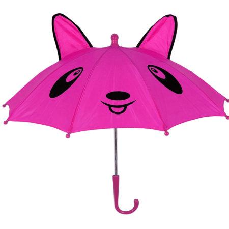 3D Pop-up Umbrella Bear Theme, Solid Color - Pink-0