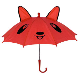3D Pop-up Umbrella Bear Theme, Solid Color - Red-0