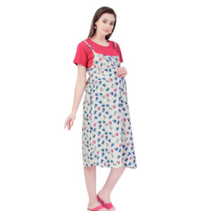 Mother Hood Maternity Nighty Gown (Flower Print) - Multicolor-0