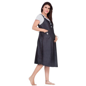 Mother Hood Maternity Nighty Gown - Black/White-0
