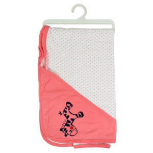 Hooded Hosiery Wrapping Sheet, Baby Wrapper - Peach-0
