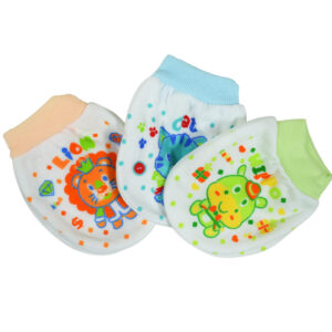 Pop Color Baby Mittens, Pair of 3 - Muticolor-0