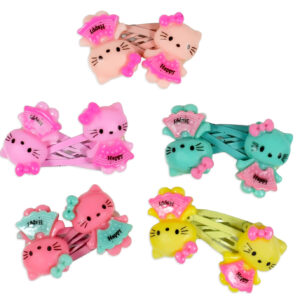 Hello Kitty Style Tic Tac Hair Clips, Pack of 5 Pair - Multicolor-0