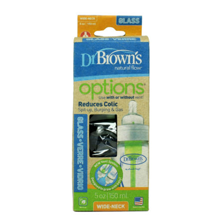 Dr. Brown's Glass Bottle, Options Wide Neck 5 oz / 150 ml-0