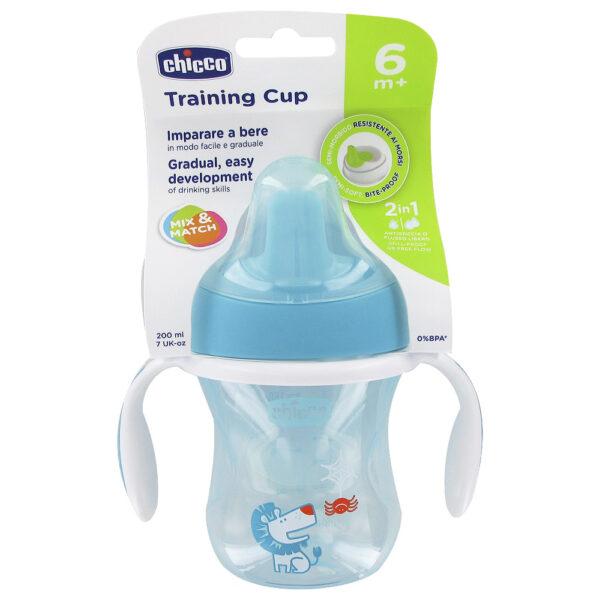 Chicco Training Cup 6M+, Aqua - 200ml-0