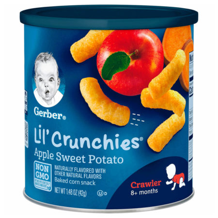 Gerber Lil' Crunchies, Apple Sweet Potato (Crawler) - 42 gm-0