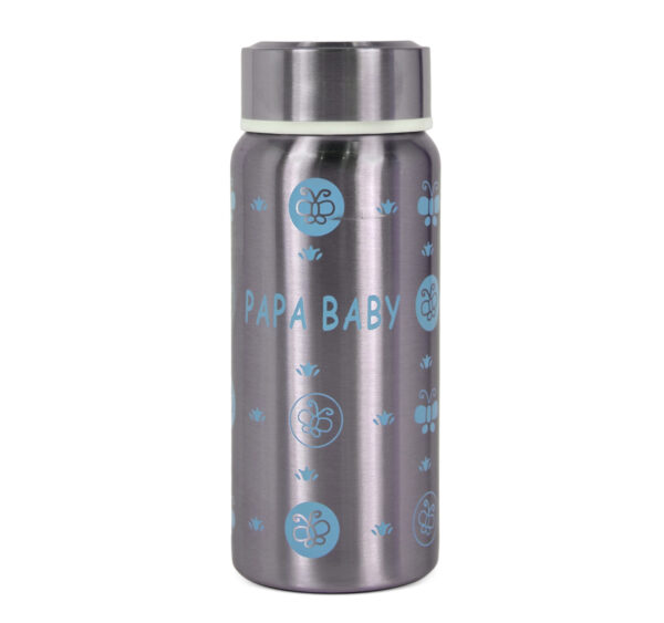 Papa Baby Multipurposable Steel Feeding Bottle - Blue-24135