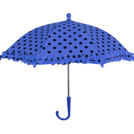 Polka Dot Printed Umbrella, Solid Color - Blue-0