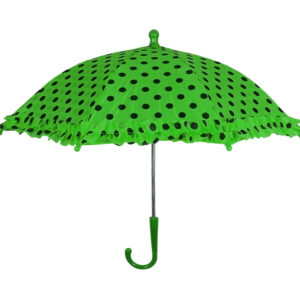 Polka Dot Printed Umbrella, Solid Color - Green-0