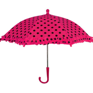 Polka Dot Printed Umbrella, Solid Color - Mehroon-0