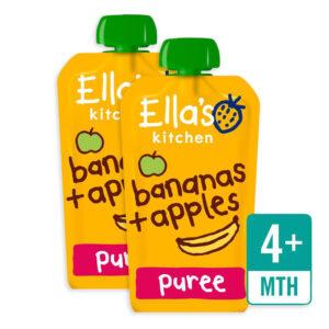 Ella's Kitchen Organic Banana & Apple (4M+) - 120g (Pack of 2)-0