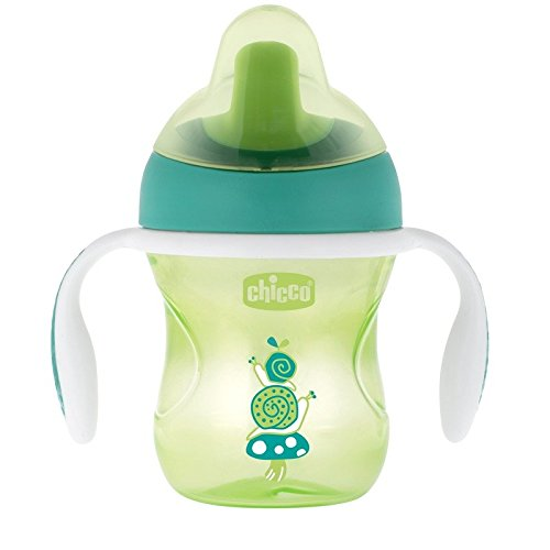 Chicco NaturalFit Semi-soft Spout Training Cup, 200 ml (6M+) - Green -25489