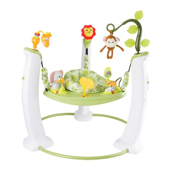 Evenflo Exersaucer Jump and Learn Stationary Jumper, Safari Friends-0