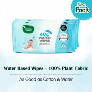 Mother Sparsh Baby Water Wipes, 80 Wipes (Pack of 3)-0
