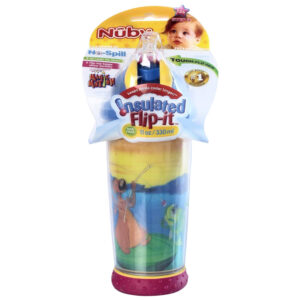 Nuby Non-Spill Magic Motion Cup Insulated Flip-it - 330ml (Colours and Prints May Vary)-0