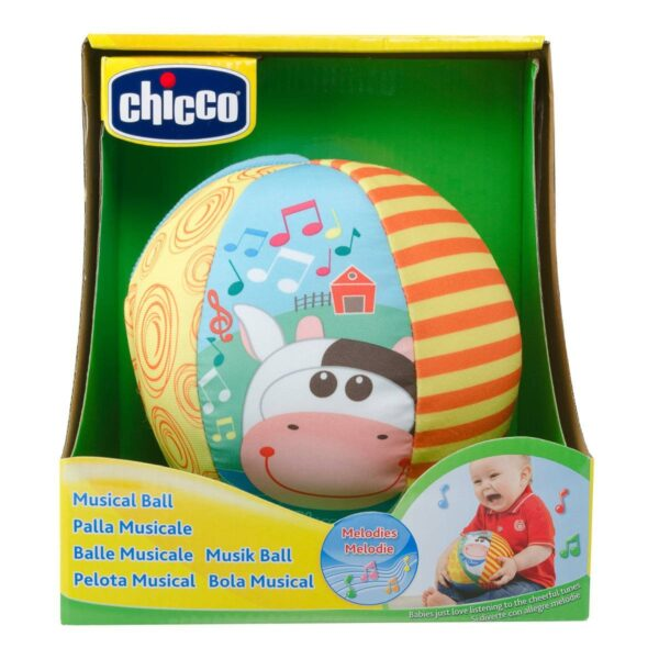 Chicco Musical Ball Toy - Multicolor-25664
