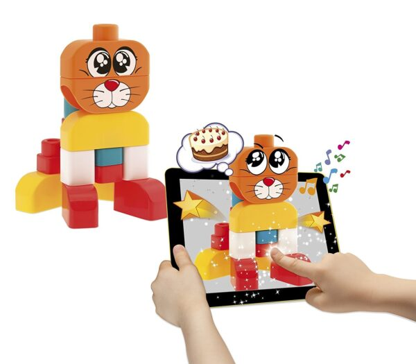 Chicco Game Construction Dog & Cat 15 Pieces, 12 Months-25674