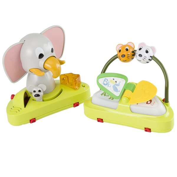 Evenflo Exersaucer Jump and Learn Stationary Jumper, Safari Friends-25200