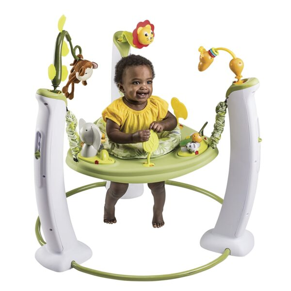 Evenflo Exersaucer Jump and Learn Stationary Jumper, Safari Friends-25202