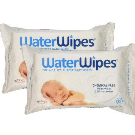 WaterWipes Baby Wipes - 60 Count (Pack of 2)-0