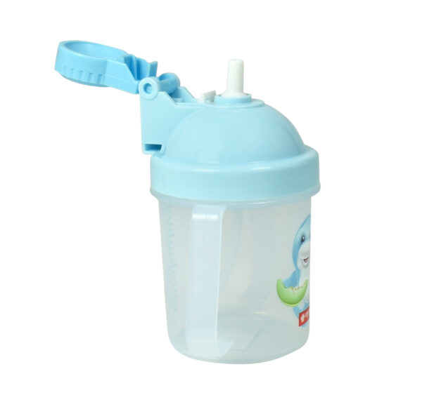 Lion Star Plastic Straw Cup With Handle (200ml) - Sky Blue-25949