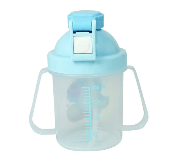 Lion Star Plastic Straw Cup With Handle (200ml) - Sky Blue-25947