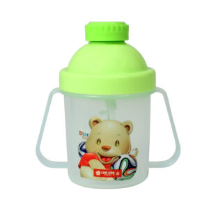 Lion Star Plastic Straw Cup With Handle (200ml) - Green-0