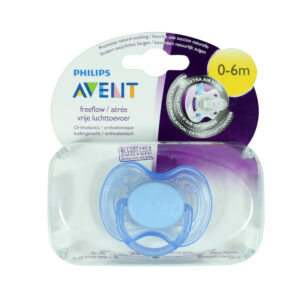Philips Avent Free Flow Baby Sother, (0-6M) - Blue-0