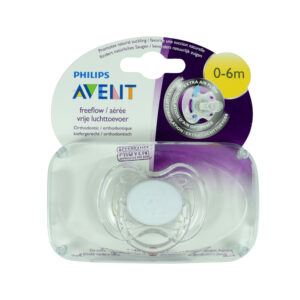 Philips Avent Free Flow Baby Sother, (0-6M) - White-0