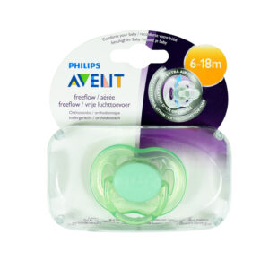 Philips Avent Free Flow Baby Sother, (6-18M) Single Pack - Green-0