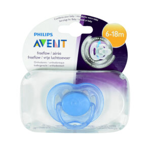 Philips Avent Free Flow Baby Sother, (6-18M) Single Pack - Blue-0