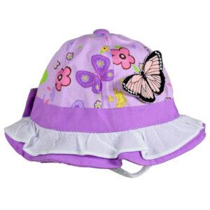 Butterfly Applique Girls Fancy Hat - Purple-0