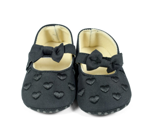 Velcro Style Girls Booties, Belly - Black-25571