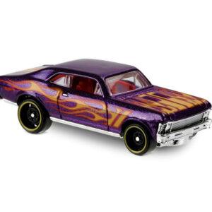 Hot Wheels - 68 Chevy Nova Purple, HW Flames #32/365-0
