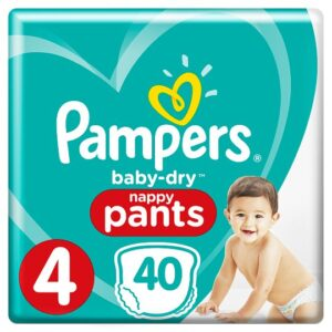 Pampers Baby Dry Pants, Stage-4 (Made in UK) - 40pcs-0