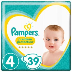 Pampers Premium Protection Diaper, Size 4 (Made in UK) - 39 Pcs-0