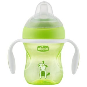 Chicco NaturalFit Soft Silicone Spout Transition Cup, 200ml (4m+) - Green-0